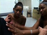 two ebony beauties shake their asses for the camera