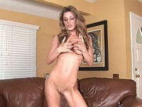 Kayla Strips and Masturbates Her Pussy