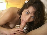 Brunette Cutie POV Style Blowjob and Fucking