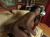 Chunky Black Slut Luxury Gets Ass Fucked
