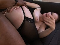 Big Tit Lingerie Babe Gets Fucked By B.B.C.