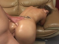 Oiled Up Booty Slut Gets Fucked