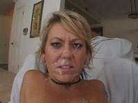 Anal Blonde Milf Facial