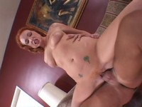 Anal DP for Horny Redhead