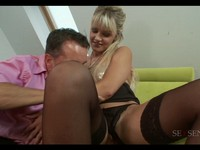 Busty Euro Blond Ass Fuck and Facial