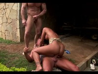Jade Gets Double Penetration From Her Workers
