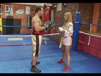 Boxing Trainer Fucks His Busty Blond Student