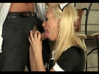 Super Hot Blond Maid Gets Fucked