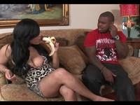 Busty Ebony Blowjob and Handjob