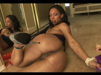 Oiled Up Ebony Booty Slut Ass Fucked
