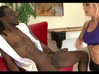 Blonde Slut Fucks Her Black Trainer