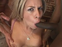 Busty Blond Suck Two Big Dicks