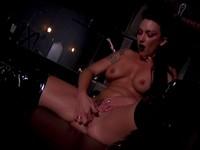 Wild Brunette Rubs Her Hot Pussy
