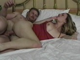 Slut enjoys sucking cock in hotel room.