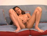 Hot Asian Lyla plays with a dildo