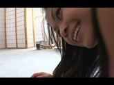 Cute asian school girl sucks cock