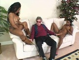 Old Man Gets Lucky with Two Black Hotties