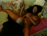 Cute black girl gets a meat pole in her hole.