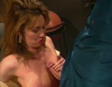 titty fucking brunette take a facial