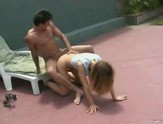 Blonde teen pussy plowed outdoors