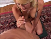 Wholesome blonde has a cute face and a mouthful of dick