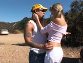 Hot blonde babe Alana Evans gets pounded