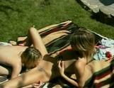 Hot lesbian outdoor 69