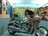 Biker Babe Masturbates