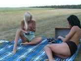 Outdoor Lesbian Toy Fuckers