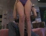 Olivia Saint sits on Pussy Man