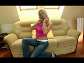 Beautiful Blonde Uses Her Glass Toy