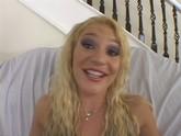 Slutty blonde getting fucked in her brown eye
