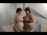 Two Lesbian BBW Dive Into Each Other