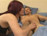 Mature Redhead MILF Michelle Aston Sucks Her Boyfriend Hard Then Fucks Him To An Orgasm