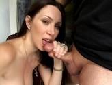 Rayveness Squeezes Her Pink Dildo
