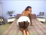 Black beauty takes a very long black cock