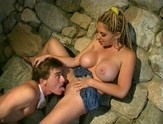 Big titted blonde Kiki Daire loves riding cock