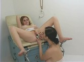 Hot nurse gives special lesbo care to her slutty patient.