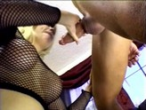 stunning blonde curses and swears while getting fucked hard in the ass