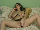 Chubby Girl Masturbates With Dildo