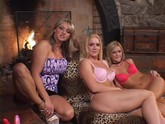 Blonde Lesbian Threeway Gets Hot
