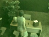 Couple filmed by CCTV fucking on a desk