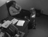 Amateur blowjob caught on CCTV