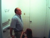 Horney couple goes into bathroom to give head