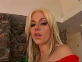 Hot blonde begging for cum