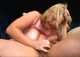 Blonde Kala with big tits and hairy pussy gets shown who