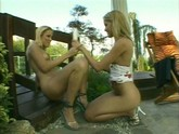 Two Blonde Lesbians Enjoy the Great Outdoors