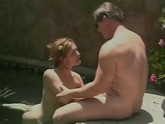 Hot and hard fuck scene by the pool