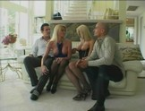 Blond twins engage in foursome