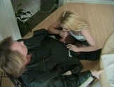 Hot blonde Ava Vincent gets on her knees to suck cock
